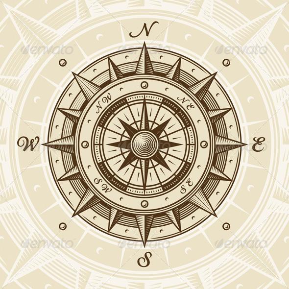 Vintage compass graphicriver for Envato graphicriver