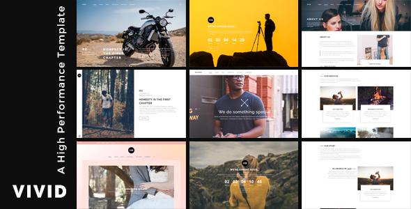 Vivid - Unique Multipurpose Template For Creative Portfolio & Businesses