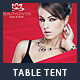 Beauty Center Table Tent Template