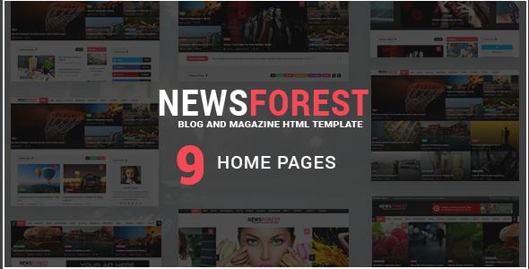 NewsForest -  Magazine / Blog HTML Template + RTL