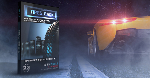 3DOcean 3D HD Models tires pack for Element 3D v 2.2 20147704