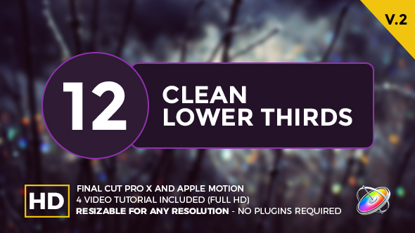Clean lower thirds for final cut pro x by whitemarker for Final cut pro lower thirds templates