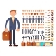 Cartoon Businessman Customizable Vector Character