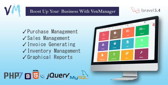 VenManager – Inventory, Account & Sales Management (Project Management Tools) images