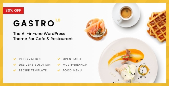 Gastro - Multi-Purpose Cafe & Restaurant WordPress Theme