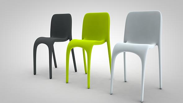 3DOcean Chair Curvy 20146301
