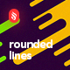 Flat Irregular Rounded Lines Backgrounds