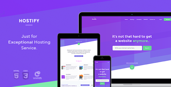 Hostify — Hosting HTML & WHMCS Template (Hosting) images