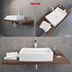 washbasin Ravak Formy