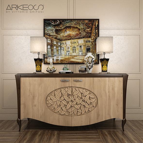 3DOcean sideboard Arkeos KRONOS K100 Noce grano 20151506