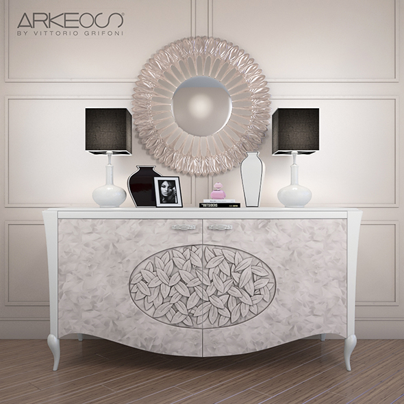 3DOcean sideboard Arkeos KRONOS K100 White Silver 20151527