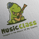 Dino Music Class Logo Design