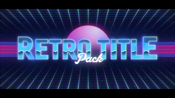 Retro Titles Pack (Miscellaneous) After Effects Templates