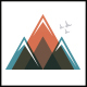 Colorful Mountain Logo