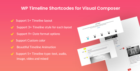 Timeline Shortcodes for Visual Composer (Interface Elements) images