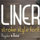 Liner. Font for Logos