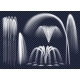 Realistic Fountains On Transparent Background Set