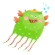 Green Jellyfish for Kids