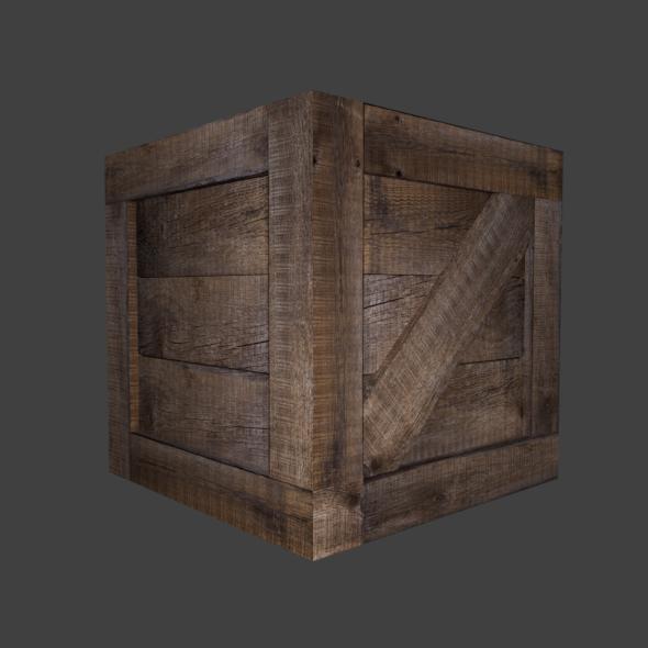 3DOcean Wooden Crate 20159626