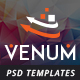 Venum One Page Creative Multipurpose PSD Template
