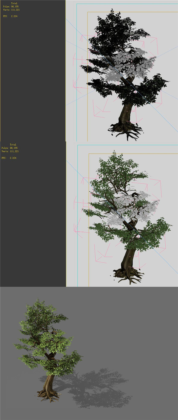3DOcean Game Models Forest Trees 06 20160367