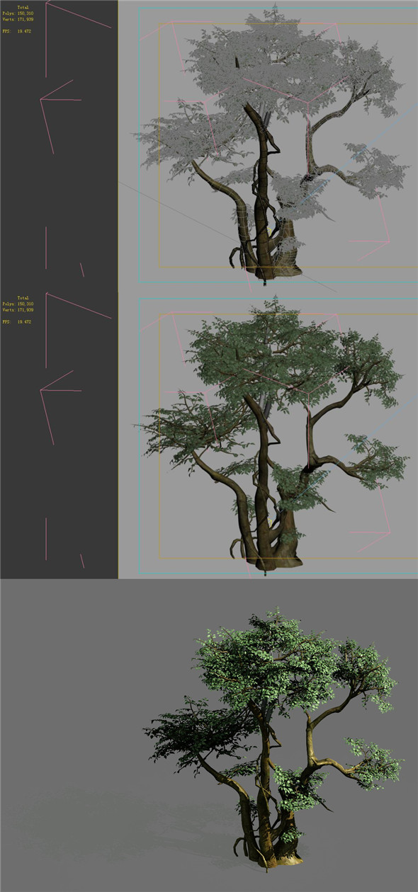 3DOcean Game Models Forest Trees 07 20160389