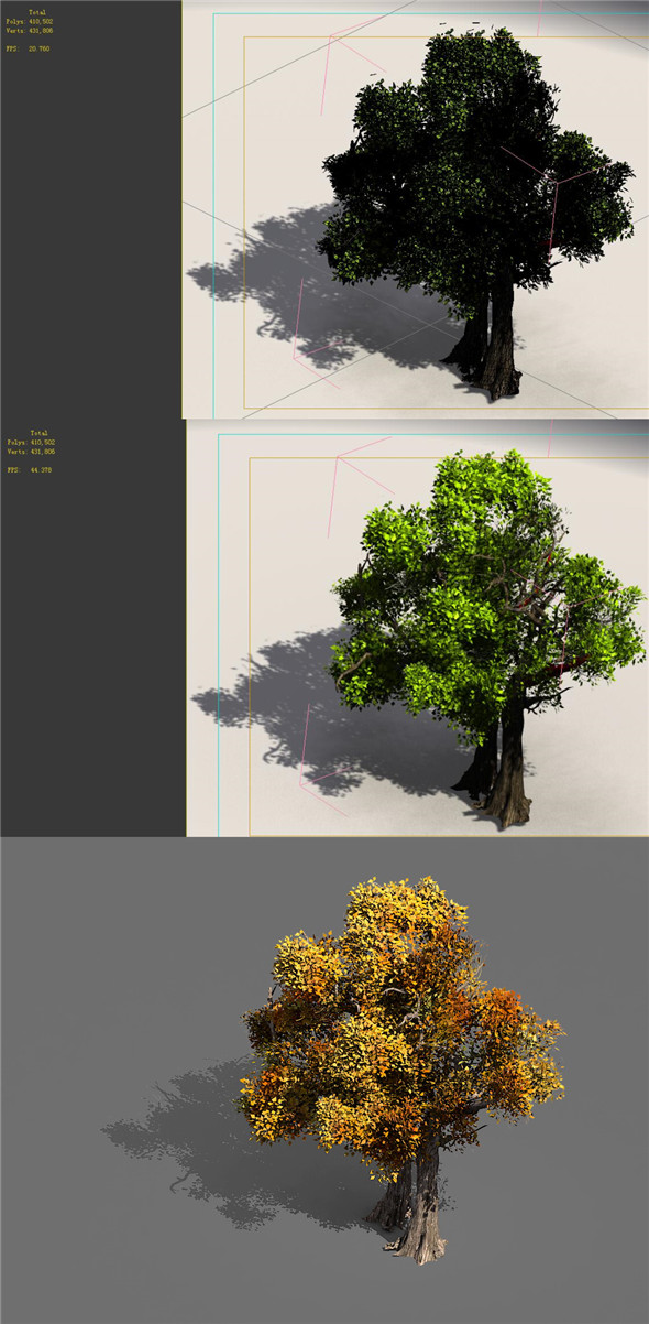 3DOcean Game Models Forest Trees 08 20160438