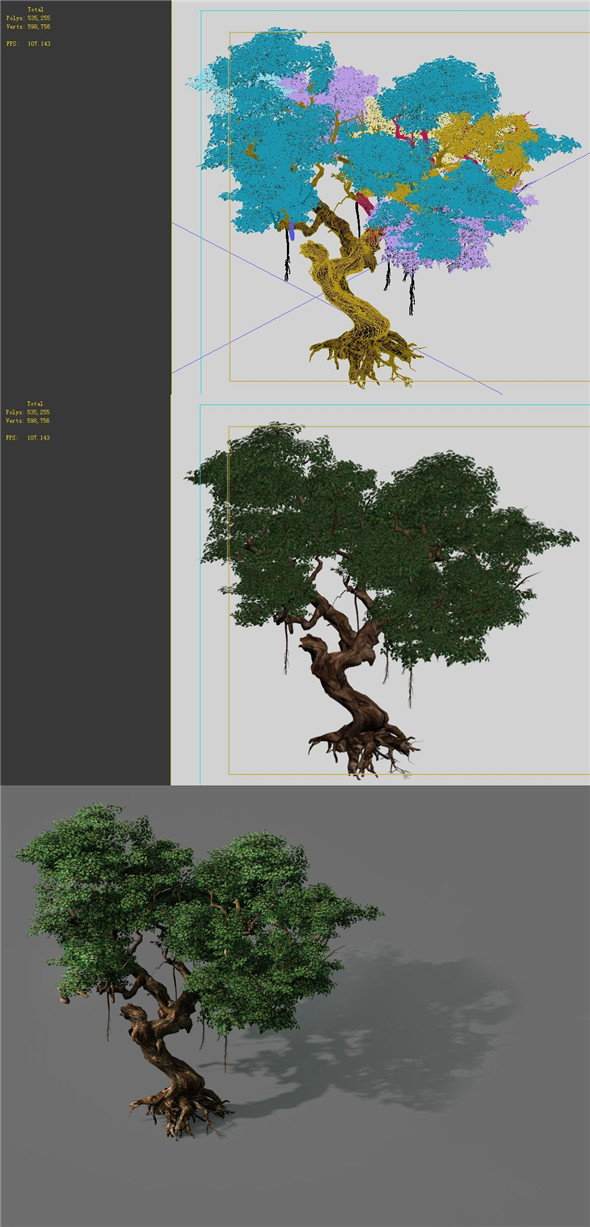 3DOcean Game Models Forest Trees 09 20160457