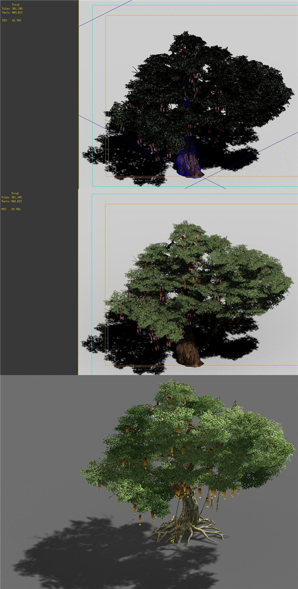 3DOcean Game Models Forest Trees 10 20160472