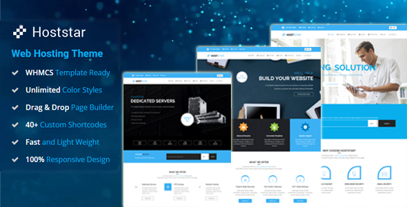 HostStar - Web Hosting and Corporate Business WordPress Theme