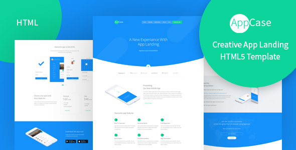 AppCase – Responsive App Landing Page Template (Technology) images