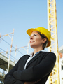 Woman Working As Engineer In Construction Site Looking Away
