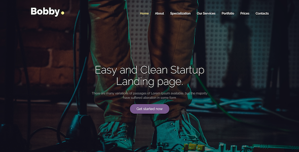 Image of Bobby - Creative Service Landing Page Drupal 8 Theme