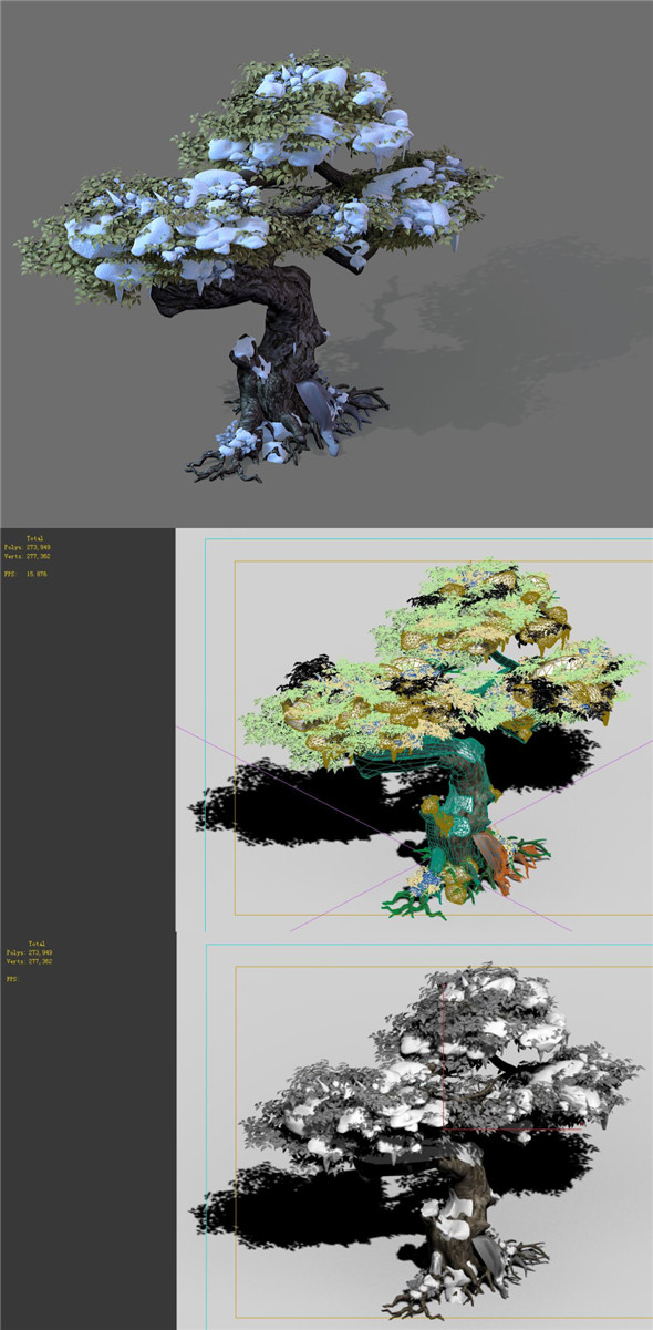3DOcean Game Models Snow Trees 01 20162457