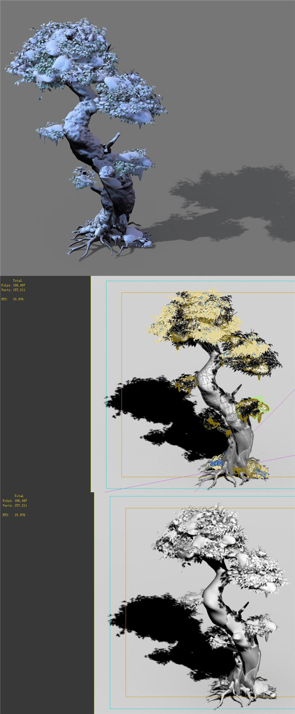 3DOcean Game Models Snow Trees 02 20162464