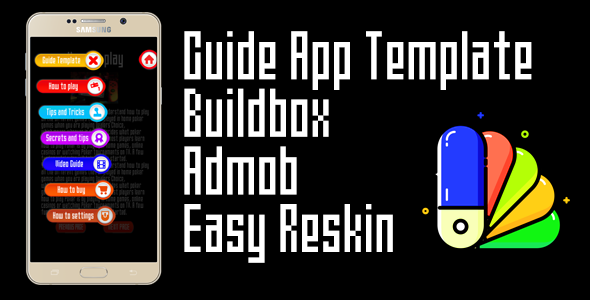 Guide App Template with AdMob + chartboost - Buildbox