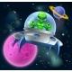Alien UFO Flying Saucer in Space