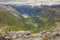 Norwegian rocky mountain landscape. Geiranger. Norway highlight. Horizontal