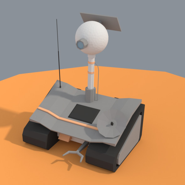3DOcean Low Poly Cartoony Planet Rover 20164995
