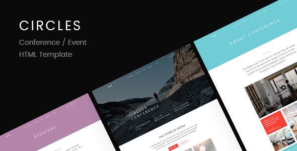 Download Circles | Conference / Event HTML Template