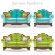 Vintage Baroque Sofa and Armchair Set