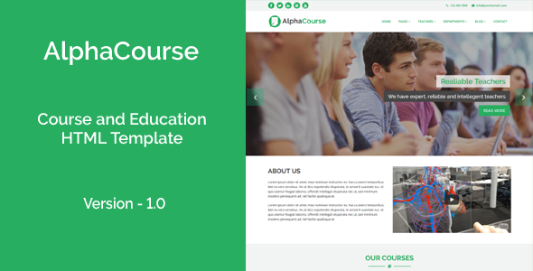 Download AlphaCourse - College, Course and Education HTML Template
