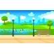 Light City Park Landscape Background