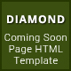 Diamond - Coming Soon Page HTML Template