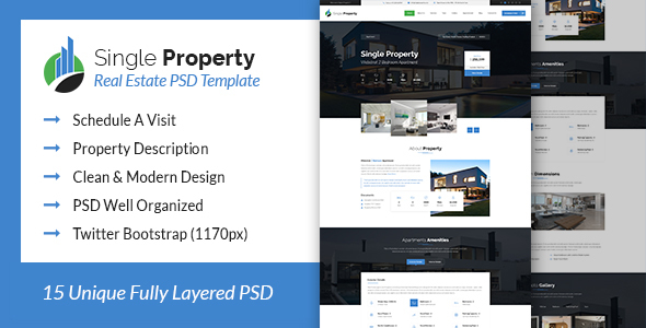 Single House – Actual Estate PSD Template (Business enterprise)