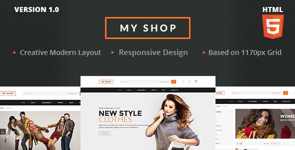 MY SHOP Ecommerce HTML