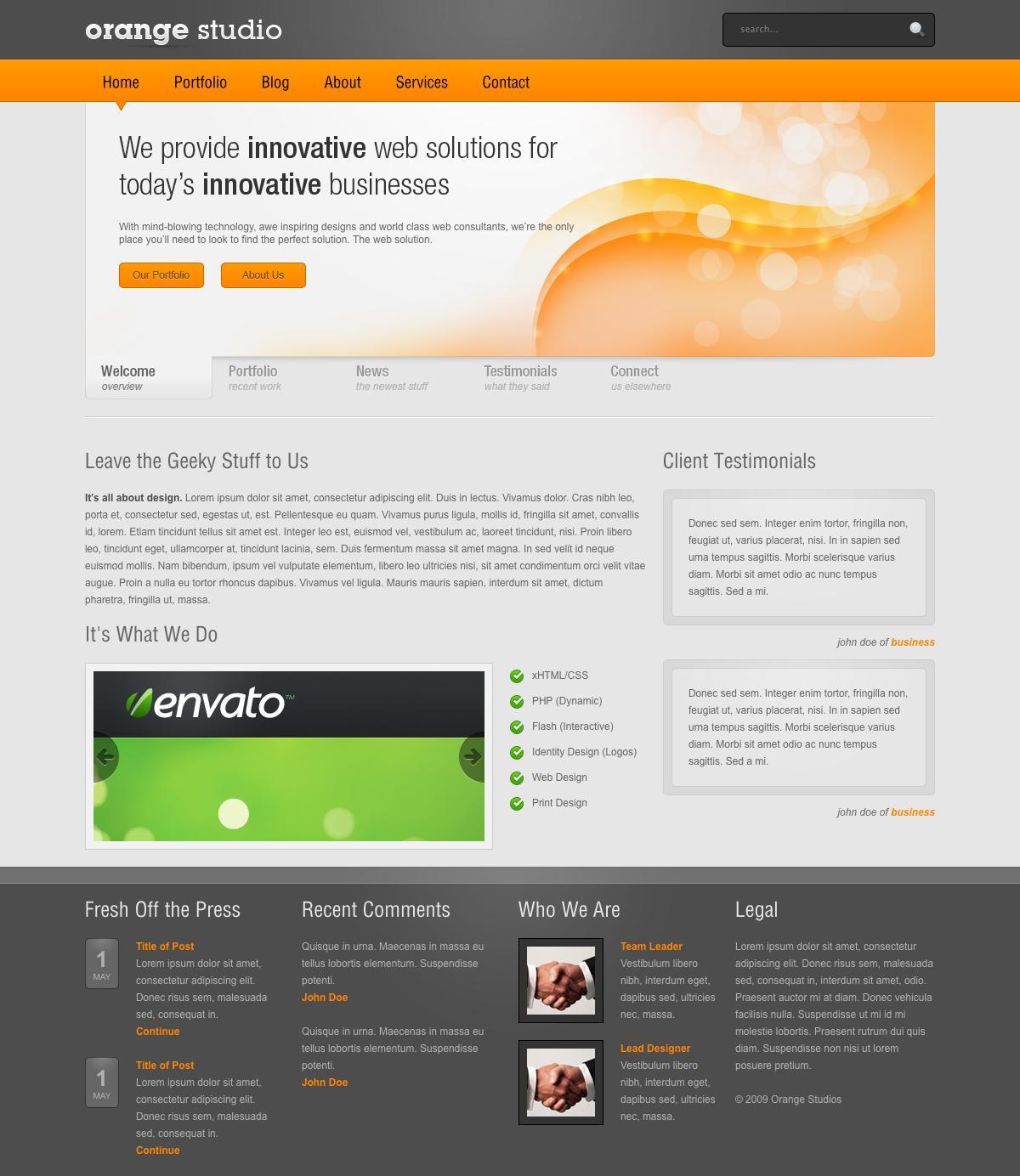 Orange - Full HTML