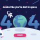 Lost in Space 404 Error Page Vector Template