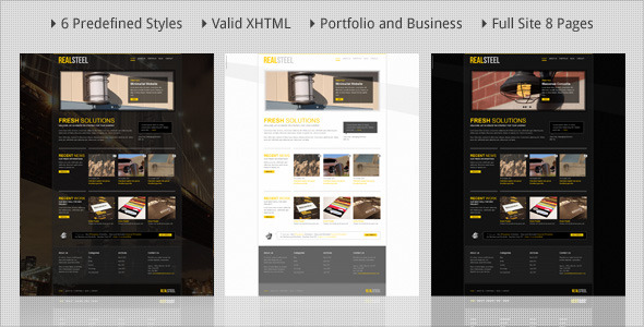 Real Steel - Business and Portfolio HTML Template
