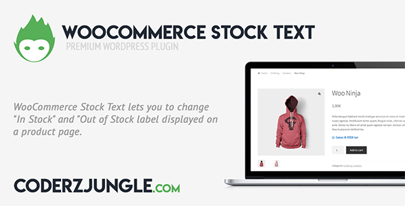 WooCommerce Stock text (WooCommerce) images